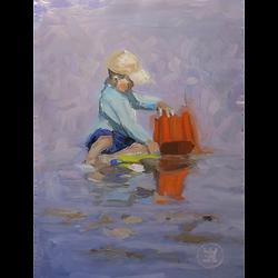 Bleu Dune | Enfant au seau
