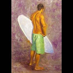 Bleu Dune | Surfeur vert