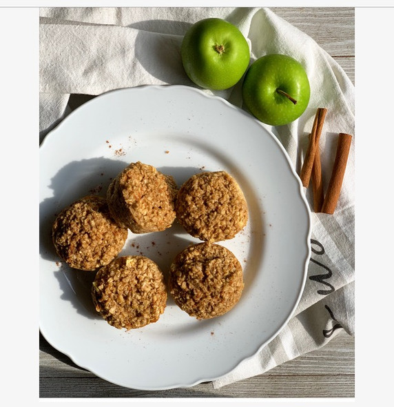 Easy Apple Cinnamon and Oat Muffins