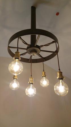 Old mill workings chandelier