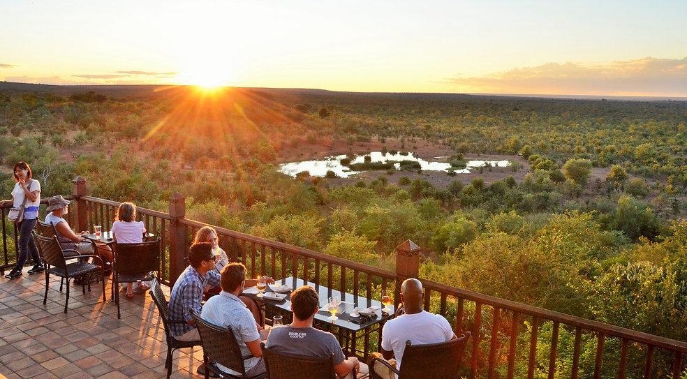 Sundowners on Victoria Falls Safari Lodg