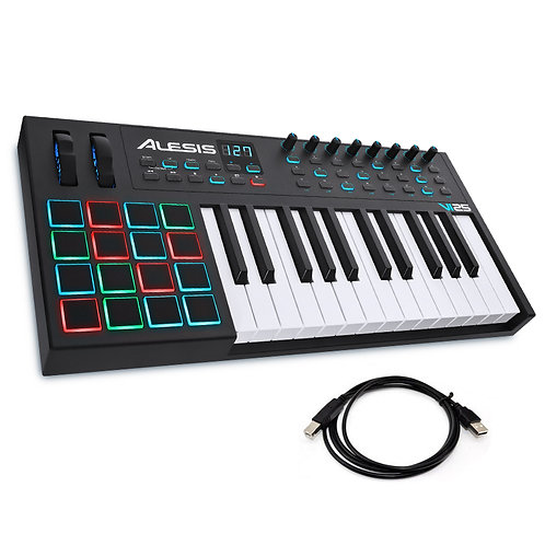 ALESIS VI25 ADVANCED 25-KEY 16 PAD USB MIDI KEYBOARD CONTROLLER + SOFTWARE