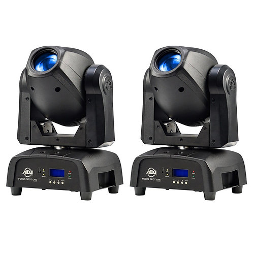 2x AMERICAN DJ ADJ FOCUS SPOT ONE 70W LED MOVING HEAD GOBO DJ DISCO CLUB LIGHT