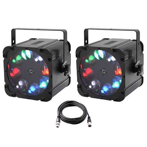 2x EQUINOX CROSSFIRE XP 160W RGBW LED GOBO PROJECTOR LIGHT DJ DISCO LIGHT +LEAD