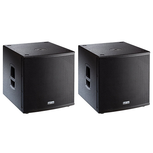 "2x FBT SUBLINE 115SA 15"" 2800W ACTIVE POWERED PA SUBWOOFER BASS SPEAKER SUB"