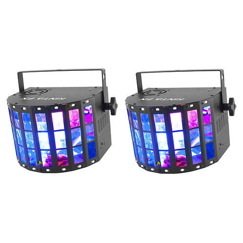 2x CHAUVET DJ KINTA FX MULTI-EFFECT LED DERBY STROBE LASER LIGHT DISCO LIGHTING