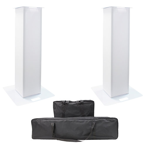 EQUINOX 1m DJ PLINTH KIT 2x WEDDING DISCO LIGHTING PODIUM STAND + SCRIMS + BAGS