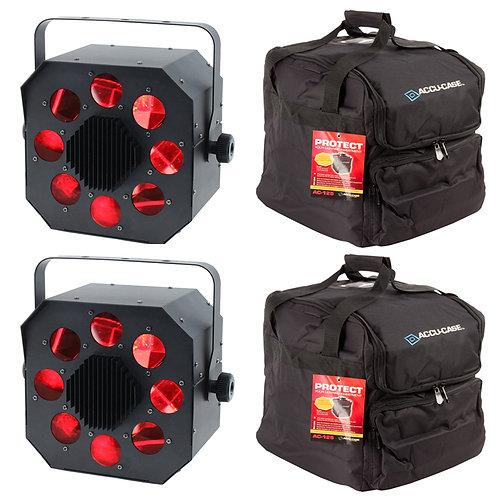 2x EQUINOX SHARD 120W RGBW LED MOONFLOWER LIGHT DJ DISCO CLUB BEAM LIGHTING +BAG
