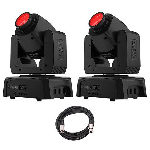2x CHAUVET INTIMIDATOR SPOT 110 LED MOVING HEAD GOBO FX LIGHT DJ DISCO +DMX LEAD