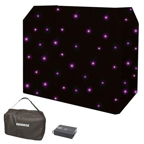 EQUINOX DJ BOOTH QUAD LED STARCLOTH SYSTEM WITH DMX CONTROLER + STAR CLOTH BAG