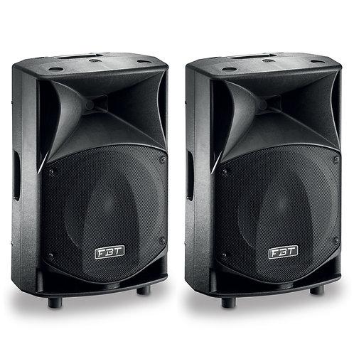 """2x FBT JMAXX 114A PROFESSIONAL 14"""" 1800W POWERED PA SPEAKER OR MONITOR DJ BAND"""
