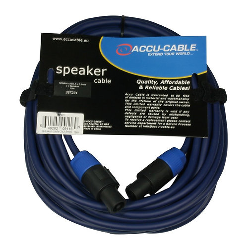 ACCU-CABLE AC-SP2-2.5/10 QUALITY 10m SPEAKON SPEAKER LEAD 10 METRE CABLE