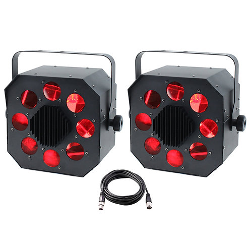 2x EQUINOX SHARD 120W RGBW LED MOONFLOWER LIGHT DJ DISCO CLUB BEAM + DMX LEAD