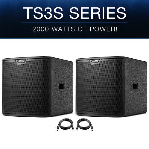 "2x ALTO TS315S 15"" 4000W POWERED ACTIVE PA SUBWOOFER SUB BASS SPEAKER DJ DISCO"