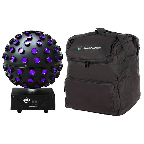 AMERICAN DJ ADJ STARBURST 75W MULTI-COLOUR LED MIRROR BALL EFFECT LIGHT + BAG