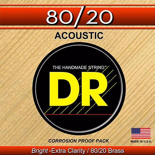 DR HI-BEAM 80/20 MEDIUM LIGHT ACOUSTIC GUITAR STRINGS FOR A BRIGHT SOUND