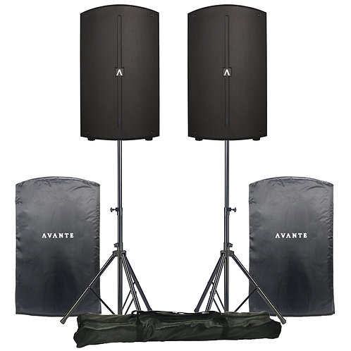Avante A12 pair with stands and covers