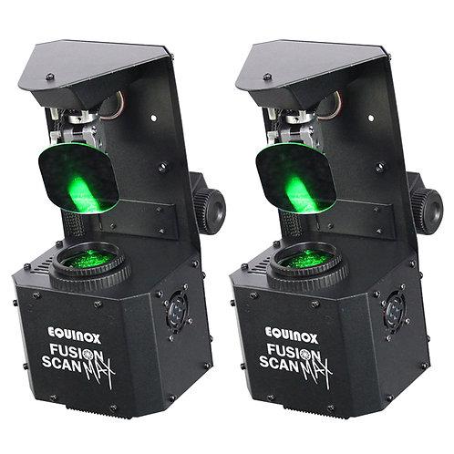 2x EQUINOX FUSION SCAN MAX 60W LED GOBO + SPOT SCANNER LIGHT DJ DISCO BAND DMX