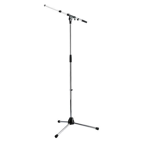 K&M KONIG AND MEYER TOPLINE NICKEL PROFESSIONAL STEEL BOOM MIC MICROPHONE STAND