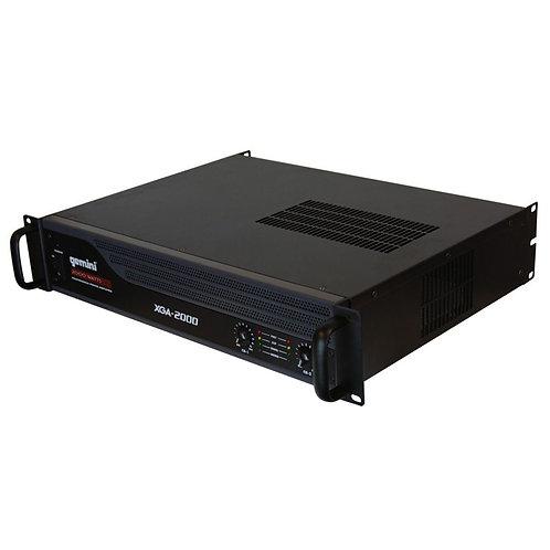 """GEMINI XGA-2000 PRO LIGHTWEIGHT 2000W 2-CHANNEL PA POWER AMPLIFIER 19"""" RACK AMP"""