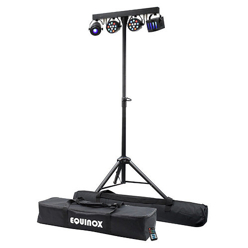 EQUINOX MICROBAR ALL-IN-ONE MULTI FX LED LIGHTING SYSTEM DISCO BAND +REMOTE +BAG