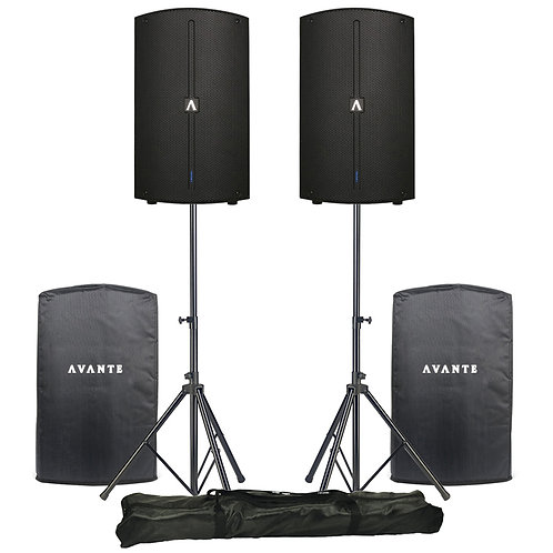 Avante A10 pair with stands and covers