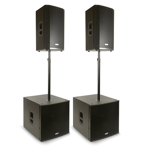 FBT VN4000 2x VENTIS 112A SPEAKER + 2x SUBLINE 118SA SUBWOOFER POWERED PA SYSTEM