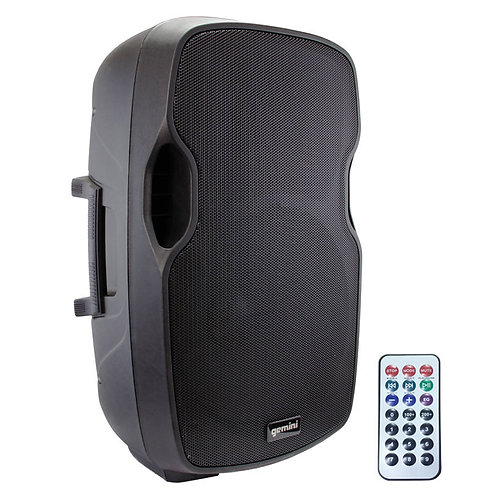 "GEMINI AS-15BLU 15"" 2000W POWERED BLUETOOTH PA SPEAKER USB SD MP3 PLAYER + MIXER"