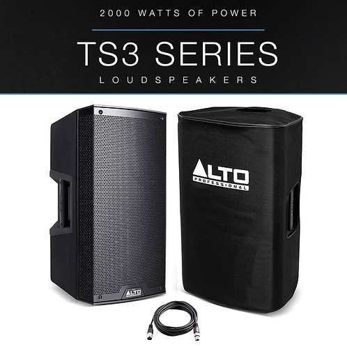 "ALTO TS315 15"" 2000W POWERED ACTIVE PA SPEAKER DJ DISCO STAGE BAND +COVER +LEAD"
