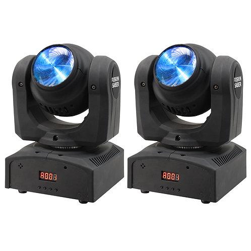 2x EQUINOX FUSION SABER TWIN BEAM CREE LED MOVING HEAD DJ DISCO BAND LIGHT DMX