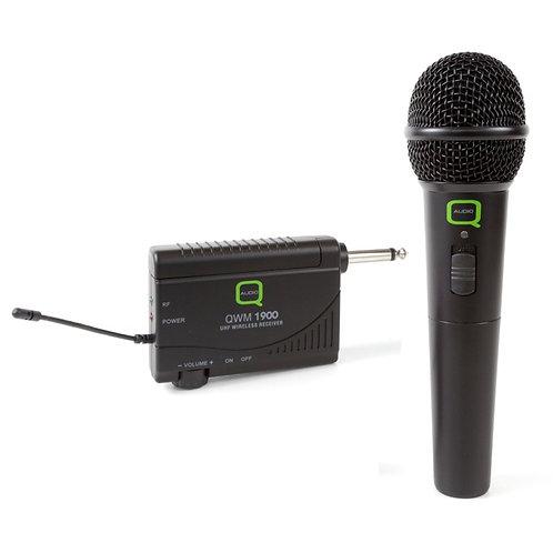 Q-AUDIO QWM1900 HH WIRELESS RADIO HANDHELD MICROPHONE + UHF RECEIVER SYSTEM
