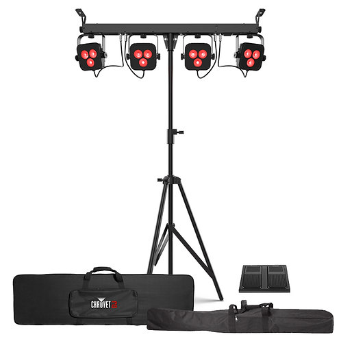 CHAUVET 4BAR LT BT ALL-IN-ONE PAR CAN WASH SYSTEM BAND LIGHTING +BAG +FOOTSWITCH