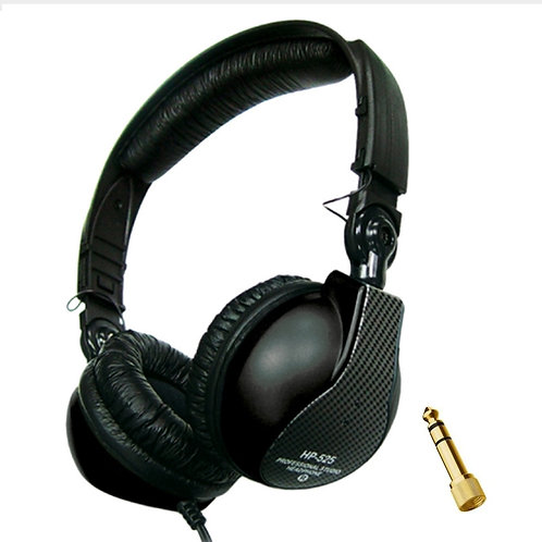 JTS HP-525 CLOSED BACK LIVE PERFORMANCE + STUDIO MONITORING HEADPHONES DJ BAND