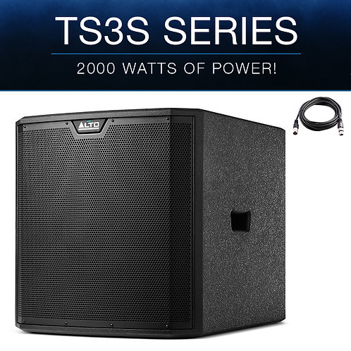 "ALTO TS315S 15"" 2000W POWERED ACTIVE PA SUBWOOFER SUB BASS BIN SPEAKER DJ DISCO"