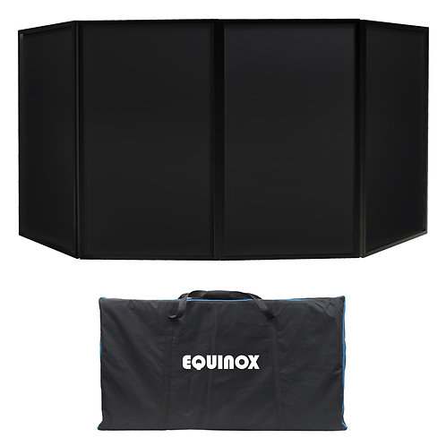 EQUINOX FOLDABLE BLACK DJ SCREEN MKII DJ DISCO BOOTH DECK STAND SURROUND + BAG