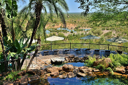 The Victoria Falls Safari Lodge pool are