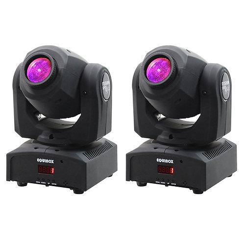 2x EQUINOX FUSION SPOT MAX MKII 60W LED MOVING HEAD GOBO + SPOT LIGHT DJ DISCO