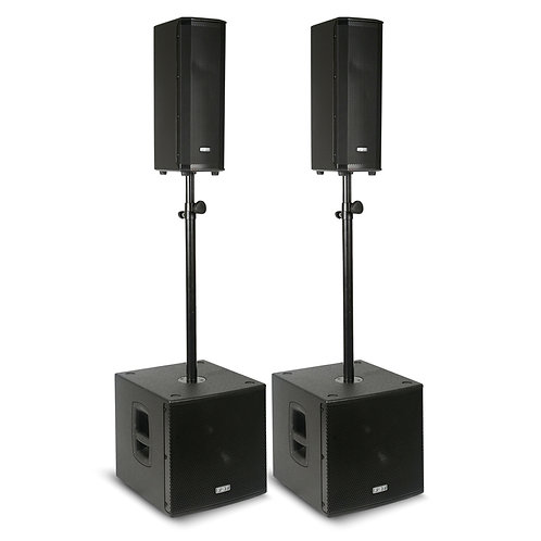 FBT VN2000 2x VENTIS 206A SPEAKER + 2x SUBLINE 112SA SUBWOOFER POWERED PA SYSTEM
