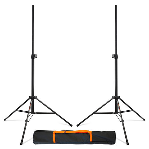 2x ATHLETIC nBOX-3 PROFESSIONAL HEAVY DUTY 35mm SPEAKER STANDS DJ BAND + BAG