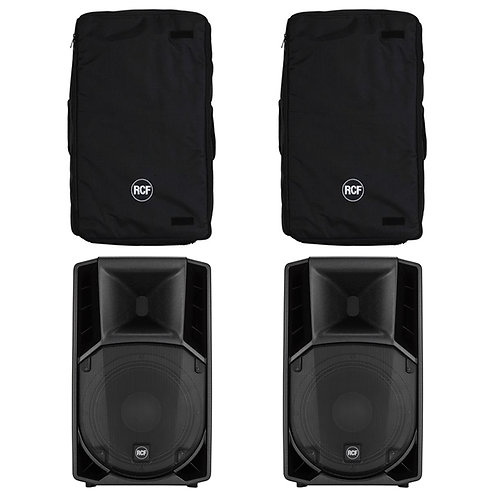 "2x RCF ART 712-A MK4 12"" 2800W POWERED ACTIVE PA SPEAKER DISCO BAND CLUB + COVER"