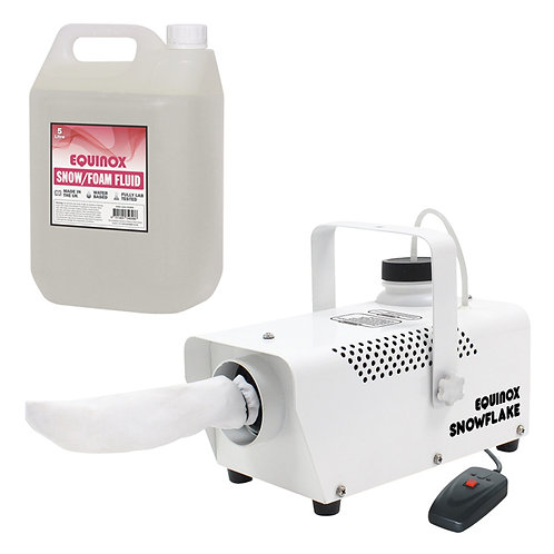 EQUINOX SNOWFLAKE COMPACT 400W SNOW EFFECT MACHINE + WIRED REMOTE + 5L FLUID