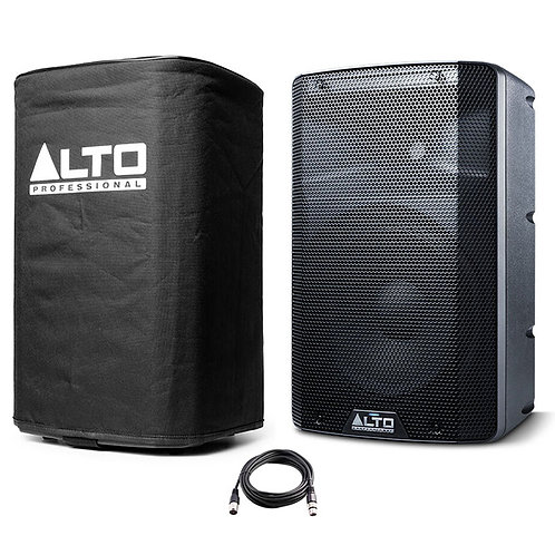 "ALTO TX210 10"" 300W POWERED ACTIVE PA SPEAKER OR MONITOR DJ BAND + COVER + LEAD"