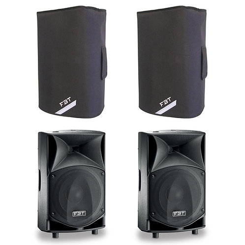 "2x FBT JMAXX 110A PROFESSIONAL 10"" 1800W POWERED PA SPEAKER OR MONITOR + COVERS"