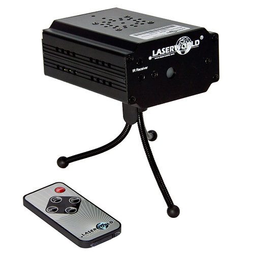 LASERWORLD EL-100RG MICRO RC 100mW RED + GREEN STAR CLUSTER LASER LIGHT + REMOTE