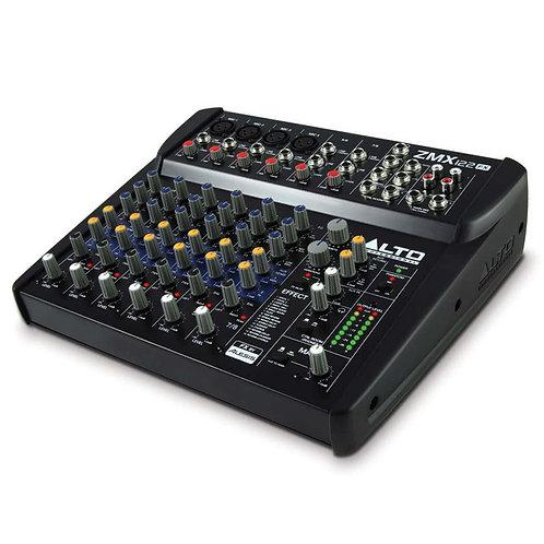 ALTO PROFESSIONAL ZMX122FX 8-CHANNEL 2-BUS LIVE + STUDIO BAND MIXING DESK + FX