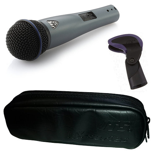 JTS NX-8S HANDHELD DYNAMIC WIRED LIVE VOCAL MICROPHONE WITH SWITCH + CLIP + CASE