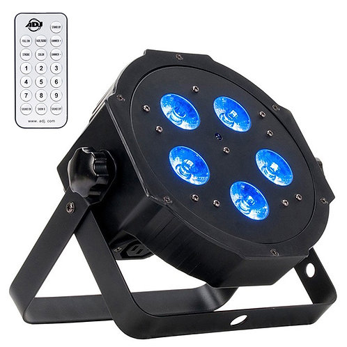 AMERICAN DJ ADJ MEGA HEX PAR RGBAW UV LED PAR CAN STAGE LIGHT OR UPLIGHT +REMOTE