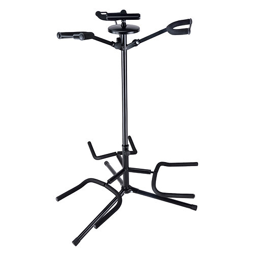 SOUNDSATION SGS-220 ADJUSTABLE STEEL TRIPLE ELECTRIC ACOUSTIC BASS GUITAR STAND