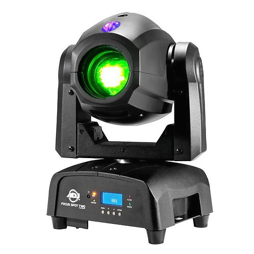 AMERICAN DJ ADJ FOCUS SPOT TWO 78W LED MOVING HEAD GOBO DJ DISCO CLUB LIGHT + UV