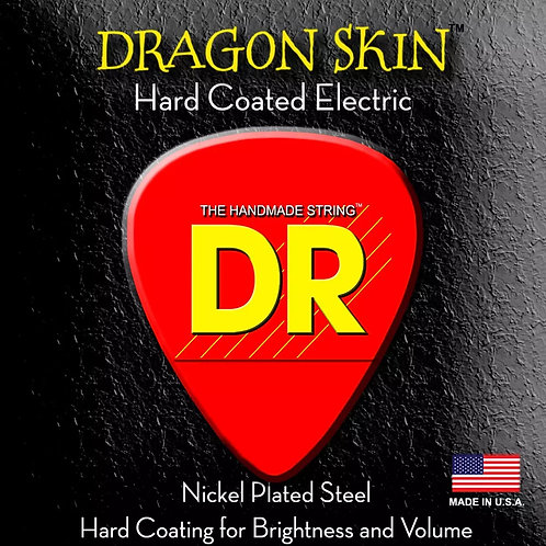 DR DRAGON SKIN HEAVY ELECTRIC GUITAR STRINGS FOR A BRIGHT SOUND + FULL VOLUME
